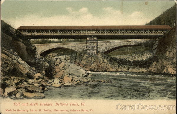 Toll and Arch Bridges Bellows Falls Vermont