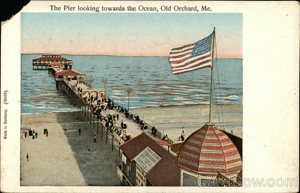 The Pier Looking Towards the Ocean Old Orchard Beach Maine