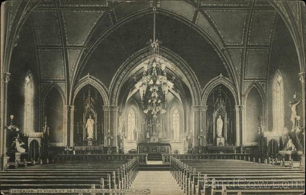 St Vincent De Paul S Church Interior Pontiac Mi