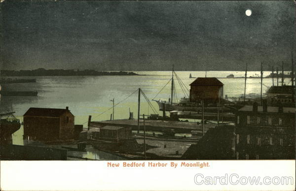New Bedford Harbor by Moonlight Massachusetts