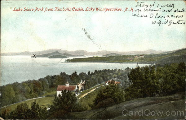 Lake Shore Park from Kimballs Castle Lake Winnipesaukee New Hampshire