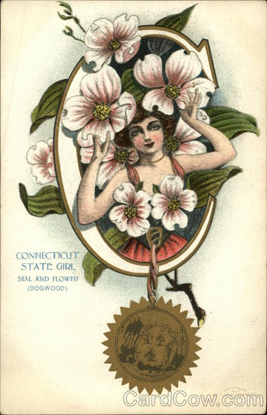Connecticut State Girl Seal and Flower State Girls