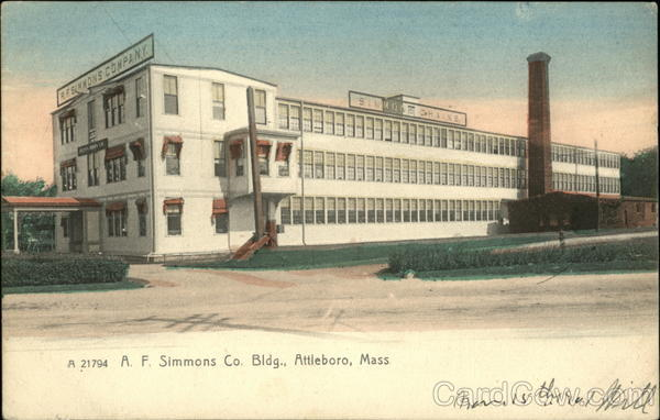 A. F. Simmons Co. Building Attleboro Massachusetts