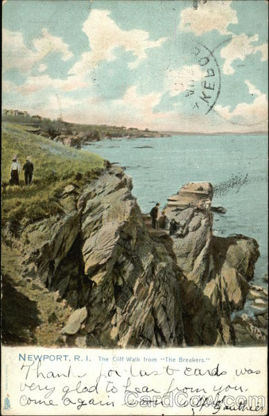 The Cliff Walk From The Breakers Newport Rhode Island