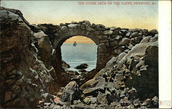 Stone Arch on the Cliffs Newport Rhode Island