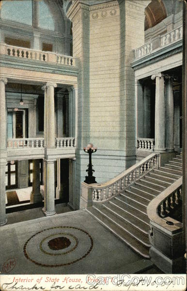 Interior of State House Providence Rhode Island