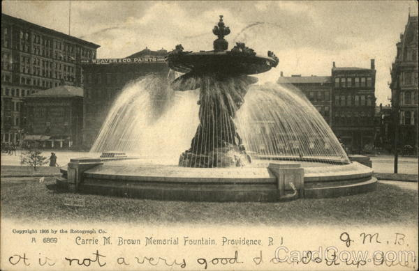 Carrie M. Brown Memorial Fountain Providence Rhode Island