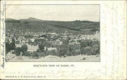 Bird's Eye View of Barre