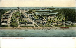 Cedar Point on Lake Erie Postcard