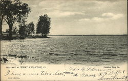 The Lake at West Swanton Postcard