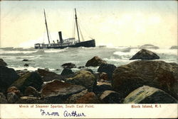 Wreck of Steamer Spartan, South East Point