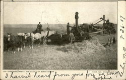 Threshing Wheat, The Staple of North Dakota