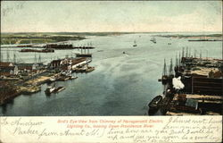 Bird's Eye View from Chimney of Narragansett Electric Lighting Co. Looking Down Providence River