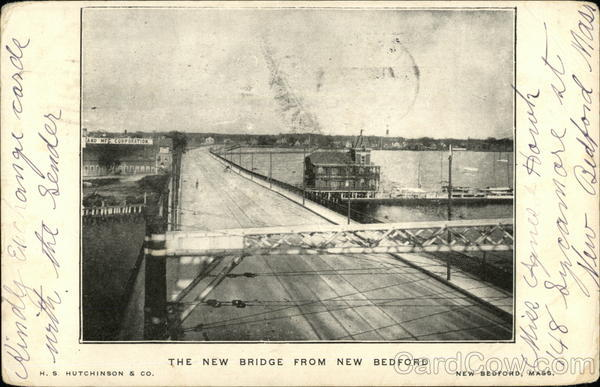 The New Bridge From New Bedford Massachusetts