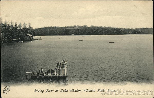 Diving Float at Lake Whalom, Whalom Park Massachusetts