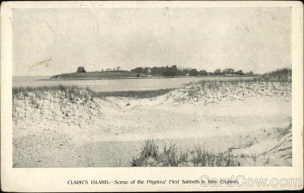 Clark's Island, Scene of the Pilgrims' First Sabbath in New England Plymouth Massachusetts