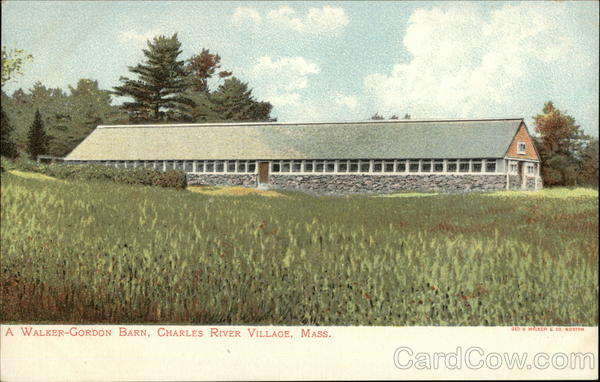 A Walker-Gordon Barn, Charles River Village Needham Massachusetts