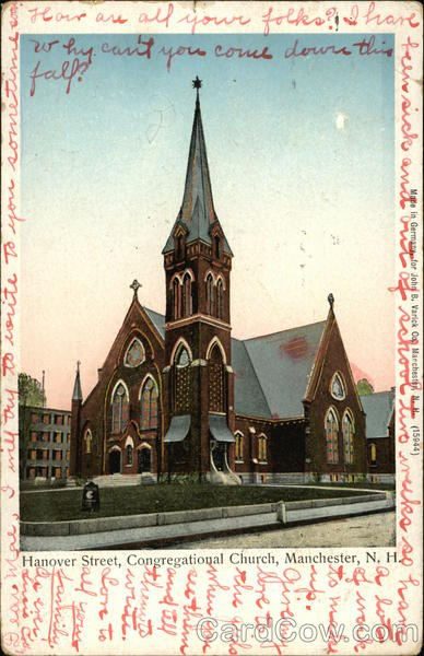 Hanover Street Congregational Church Manchester New Hampshire