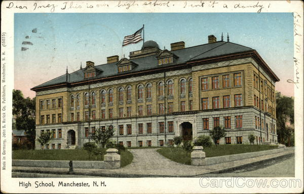 High School Manchester New Hampshire Copper Windows