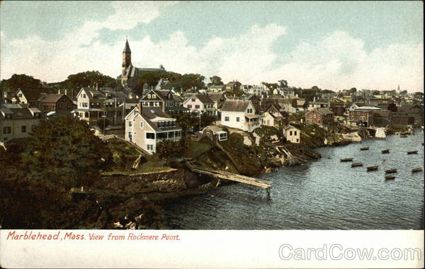 View from Roxkmere Point Marblehead Massachusetts