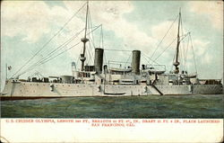 U.S. Cruiser Olympia, Length 340 ft., Breadth 52 ft. 5/8 in., Draft 21 ft. 4 in