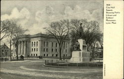 City Hall Square showing Public Library and Soldiers Monument