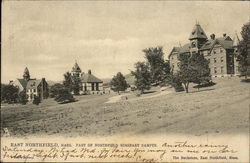 Part of Northfield Seminary Campus Postcard