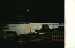 New Bedford Harbor by Moonlight