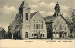 Baptist Church, Police Station and Library