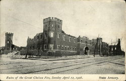 State Armory, Ruins of the Great Chelsea Fire, Sunday, April 12, 1908