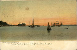 Fishing Vessels at Anchor in the Harbor