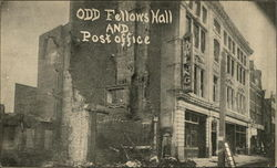 Odd Fellows Hall and Post Office Postcard