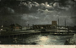 Chelsea Bridge at Night, From Charlestown, Mass