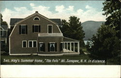 "Sec. Hay's Summer Home, ""The Fells,"" Mt. Sunapee, N.H. in Distance"