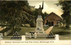 Soldiers Monument and Frost Free Library