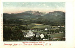 Greetings from the Franconia Mountains, N.H., Franconia Mountains from Sugar Hill