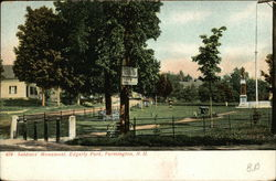Soldiers Monument, Edgerly Park Postcard