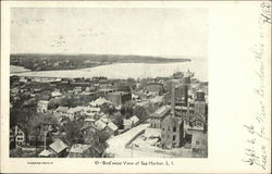 Bird's Eye View of Sag Harbor, L.I
