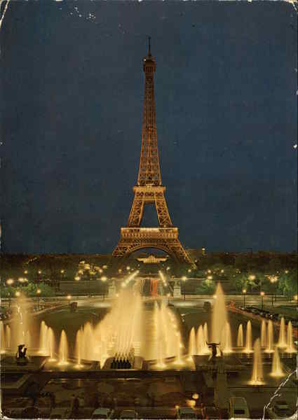 Eiffel Tower and Gardens of Chaillot Palace Paris France