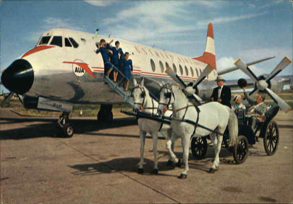 The Friendly Airline and a Horse Cart from Vienna Austria