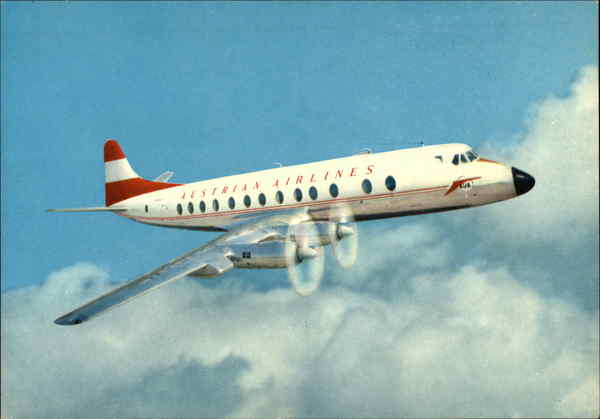 Austrian Airlines Prop-Jet Vickers Viscount 837 Aircraft
