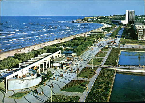 View of Beach Mamaia Romania Eastern Europe