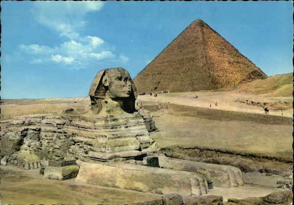 No 505. The Great Sphinx of Giza and Keops Pyramid Egypt