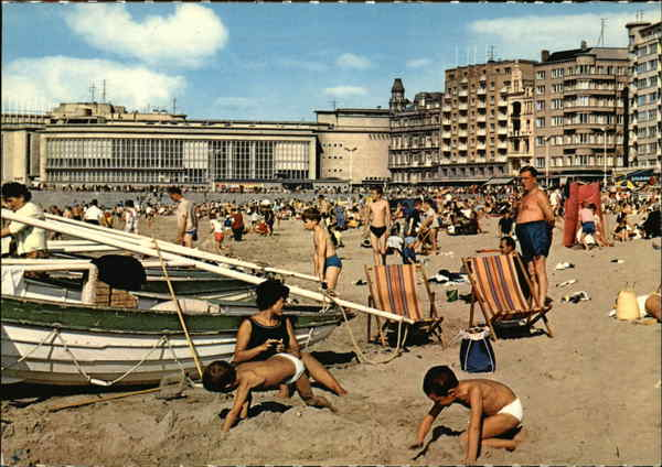 Beach and Kursaal Ostend Belgium Benelux Countries