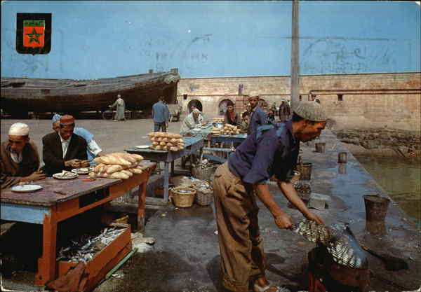 Fisher Harbor Essaouira Morocco Africa