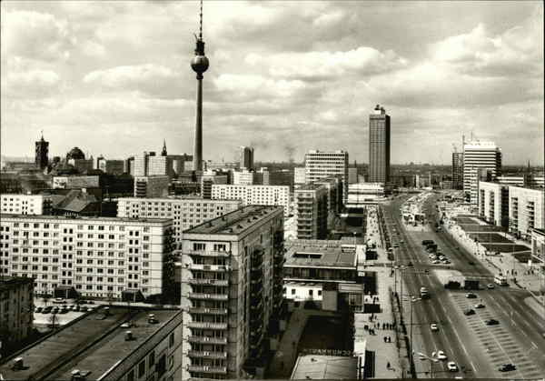Berlin. View of part of the East-Berlin City with Television Tower Germany