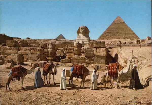 Pyramids and the Sphinx Cairo Egypt Africa