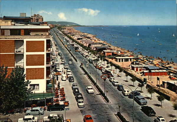 S. Benedetto del Tronto. Hotels on tthe sea-front Italy