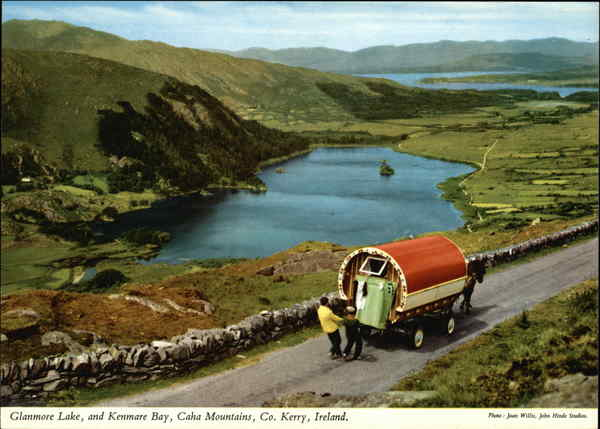 Glanmore Lake, and Kenmare Bay, Caha Mountains Ireland