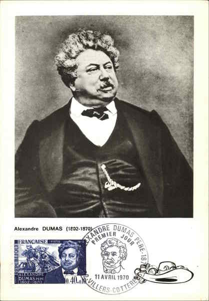 A portrat of Alexandre Dumas (1802-1870) Maximum Cards